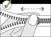 Reißverschluss korrekt