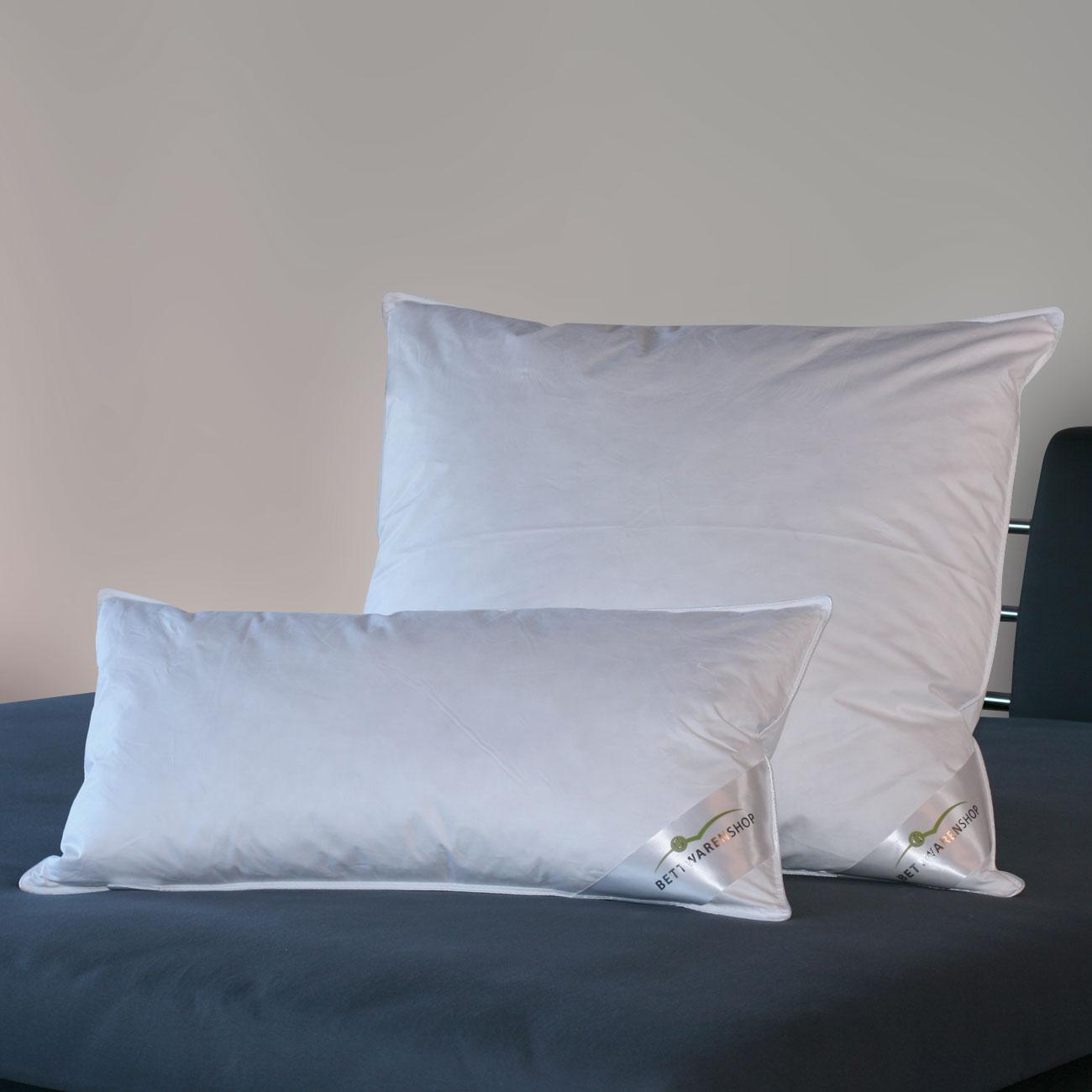 90/% Daunen// 10/% Federn Schlafstil 3-Kammerkissen D500 Füllung Außen 100/% Fede