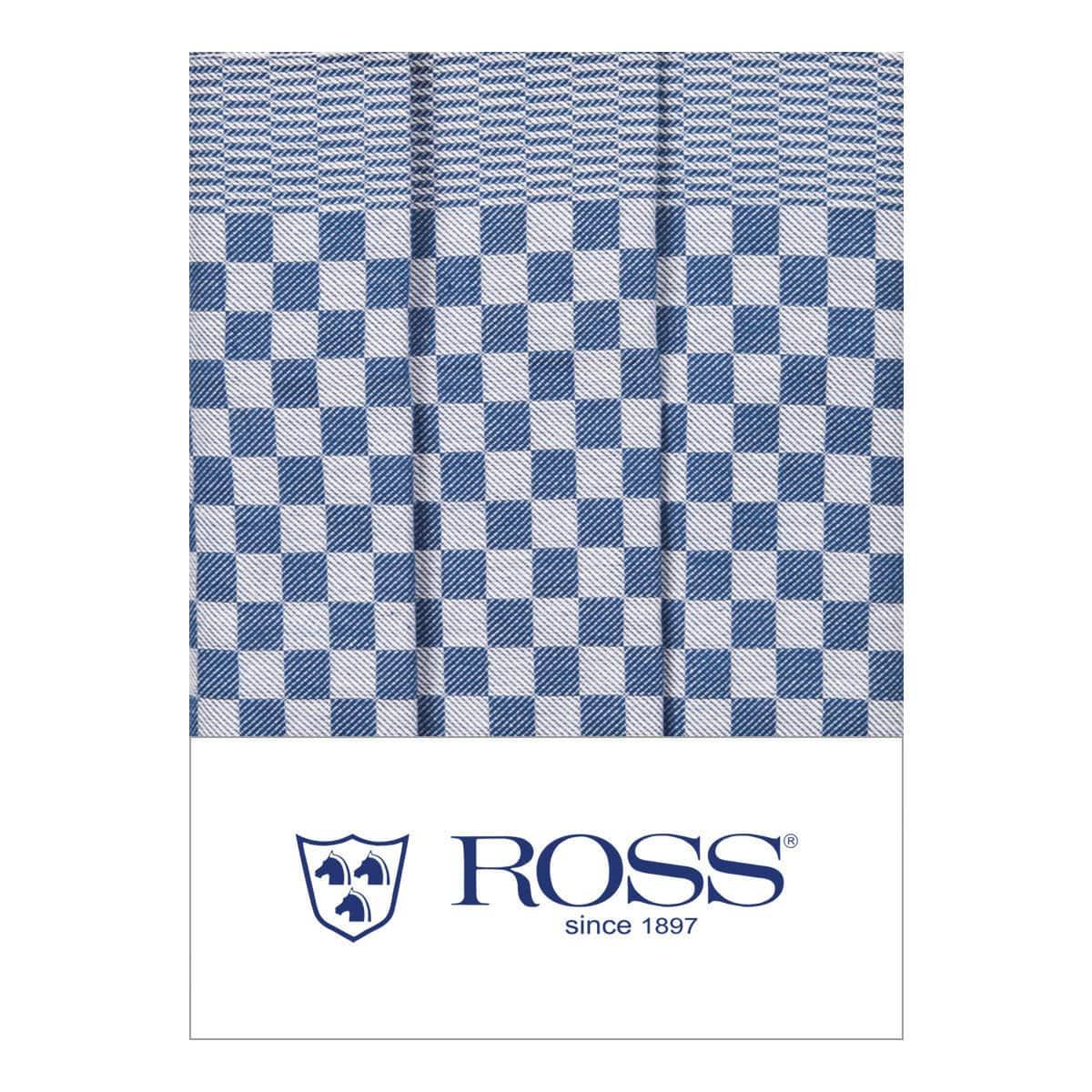 Ross 3er Pack Baumwoll-Geschirrtücher Gebild blau