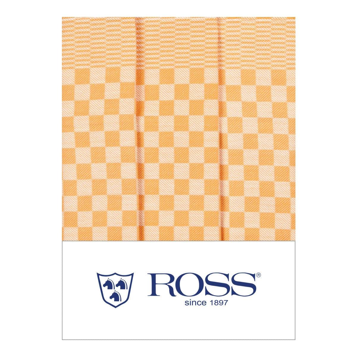 Ross 3er Pack Baumwoll-Geschirrtücher Gebild gelb
