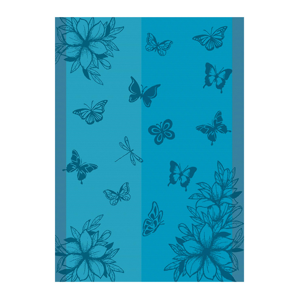 Ross 3er Pack Baumwoll-Geschirrtücher Schmetterlinge Längsstreifen