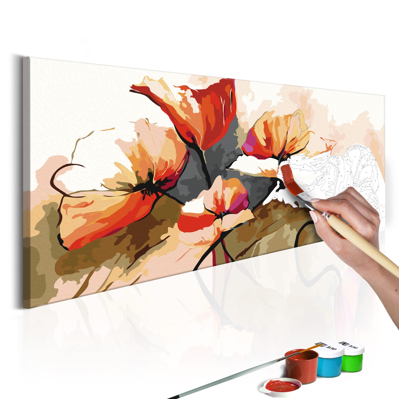 Artgeist Malen nach Zahlen - Blumen - zarte Mohnblumen