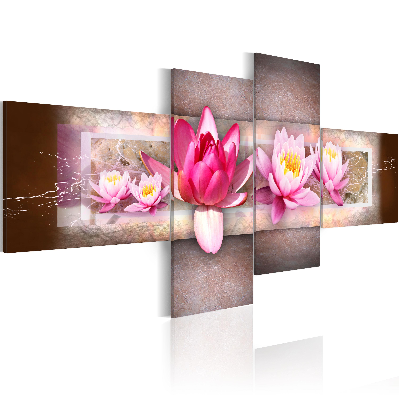 Artgeist Wandbild - Zarte Wasserlilien