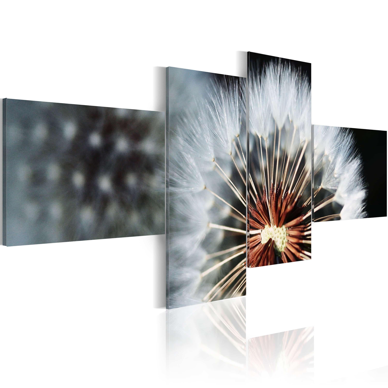 Artgeist Wandbild - Pusteblume - 4 Teile