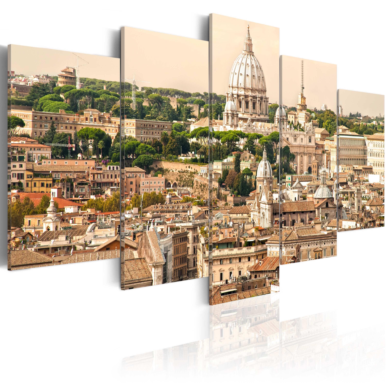 Artgeist Wandbild - Die Dächer der Ewigen Stadt