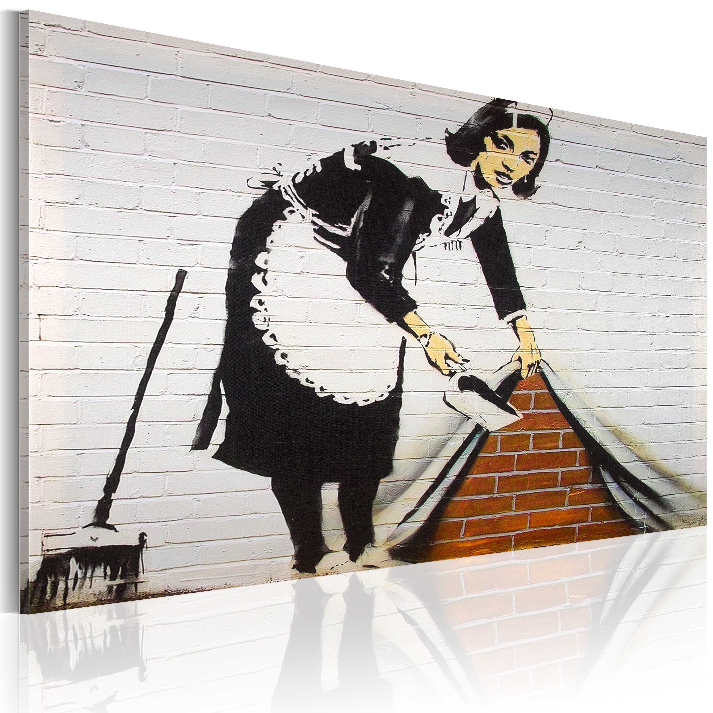 Artgeist Wandbild - Putzfrau (Banksy)
