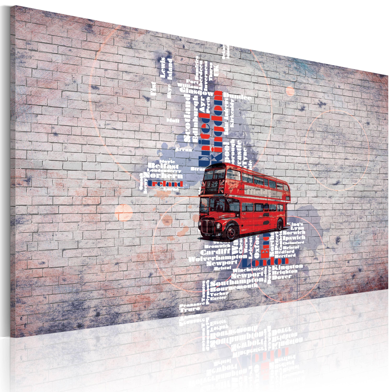 Artgeist Wandbild - Rund um Großbritannien mit dem Routemaster