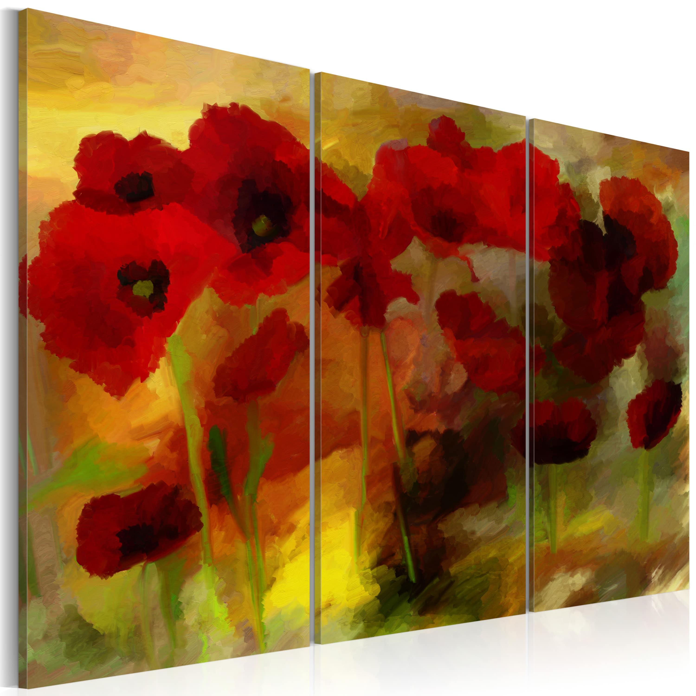 Artgeist Wandbild - Sublime Mohnblumen