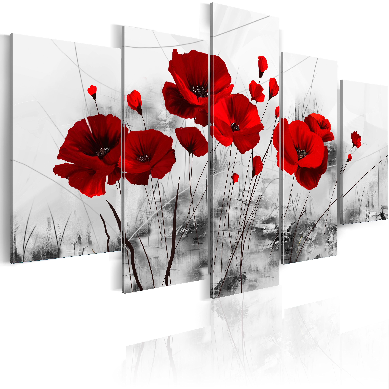 Artgeist Wandbild - Mohnblumen - rot Wunder