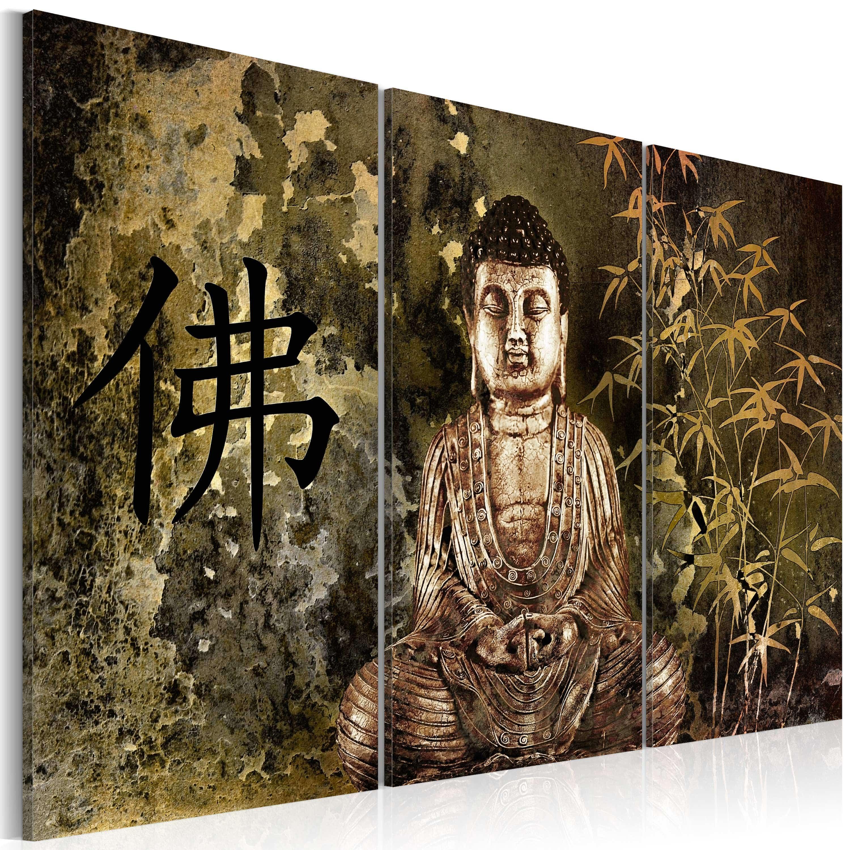 Artgeist Wandbild - Statue von Buddha