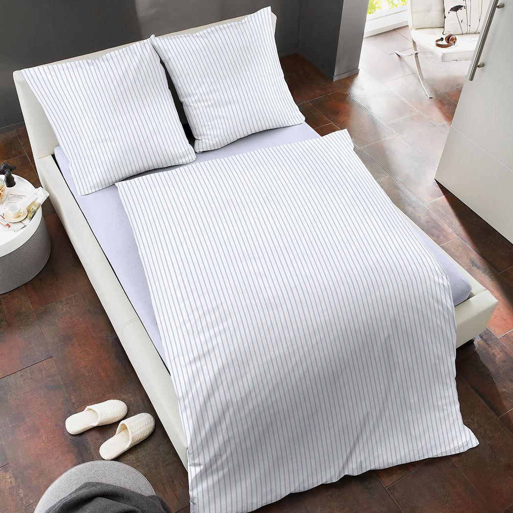 dormisette batist bettw sche streifen weiss g nstig online kaufen bei bettwaren shop. Black Bedroom Furniture Sets. Home Design Ideas