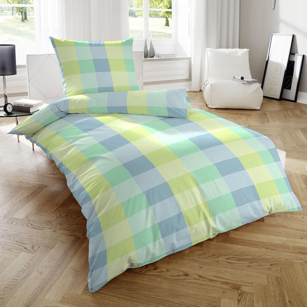 Seersucker Bettwäsche Garnitur Bio Baumwolle Bett Bezug 155x220