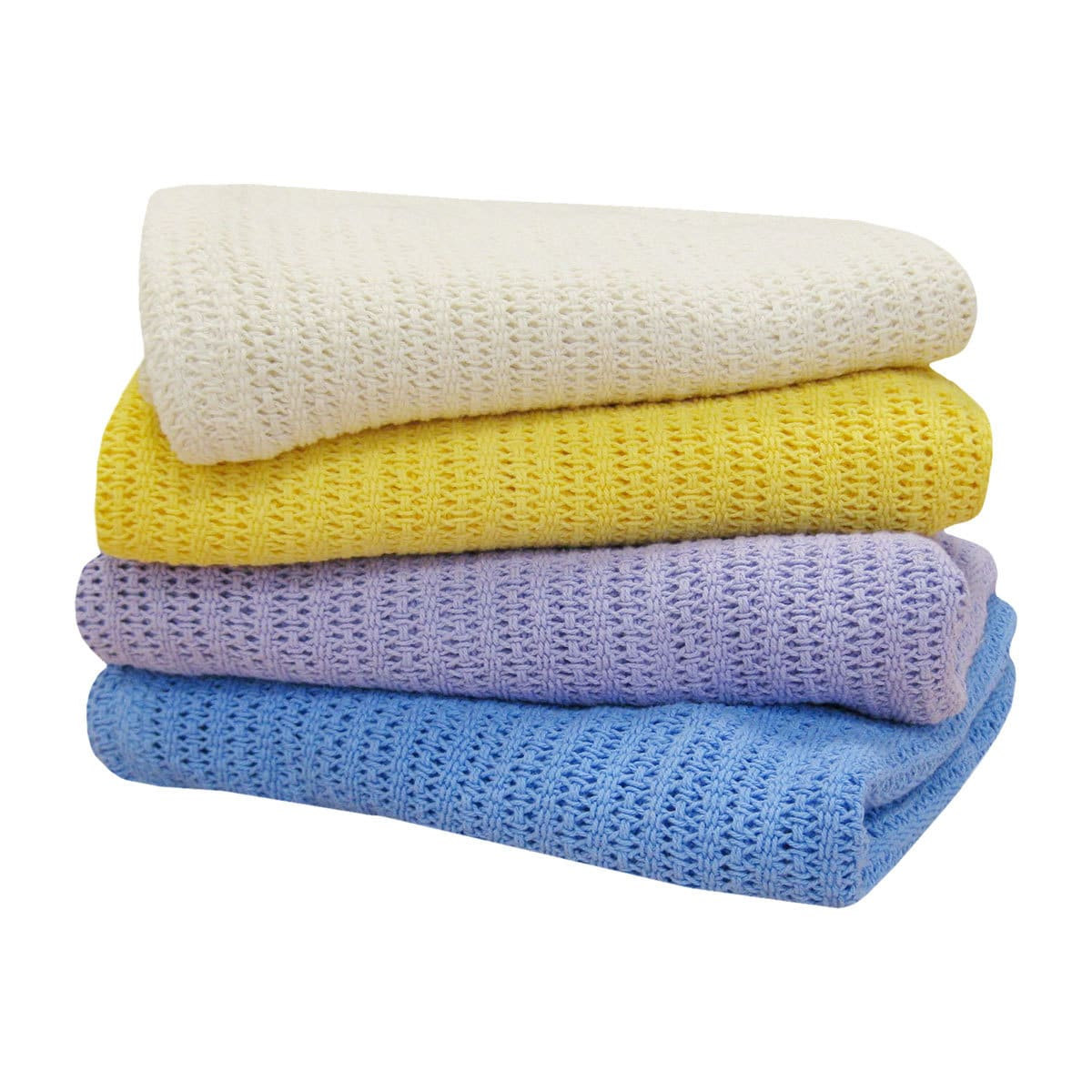 BettwarenShop Baumwolldecke in Häkeloptik für Kinder und Babys