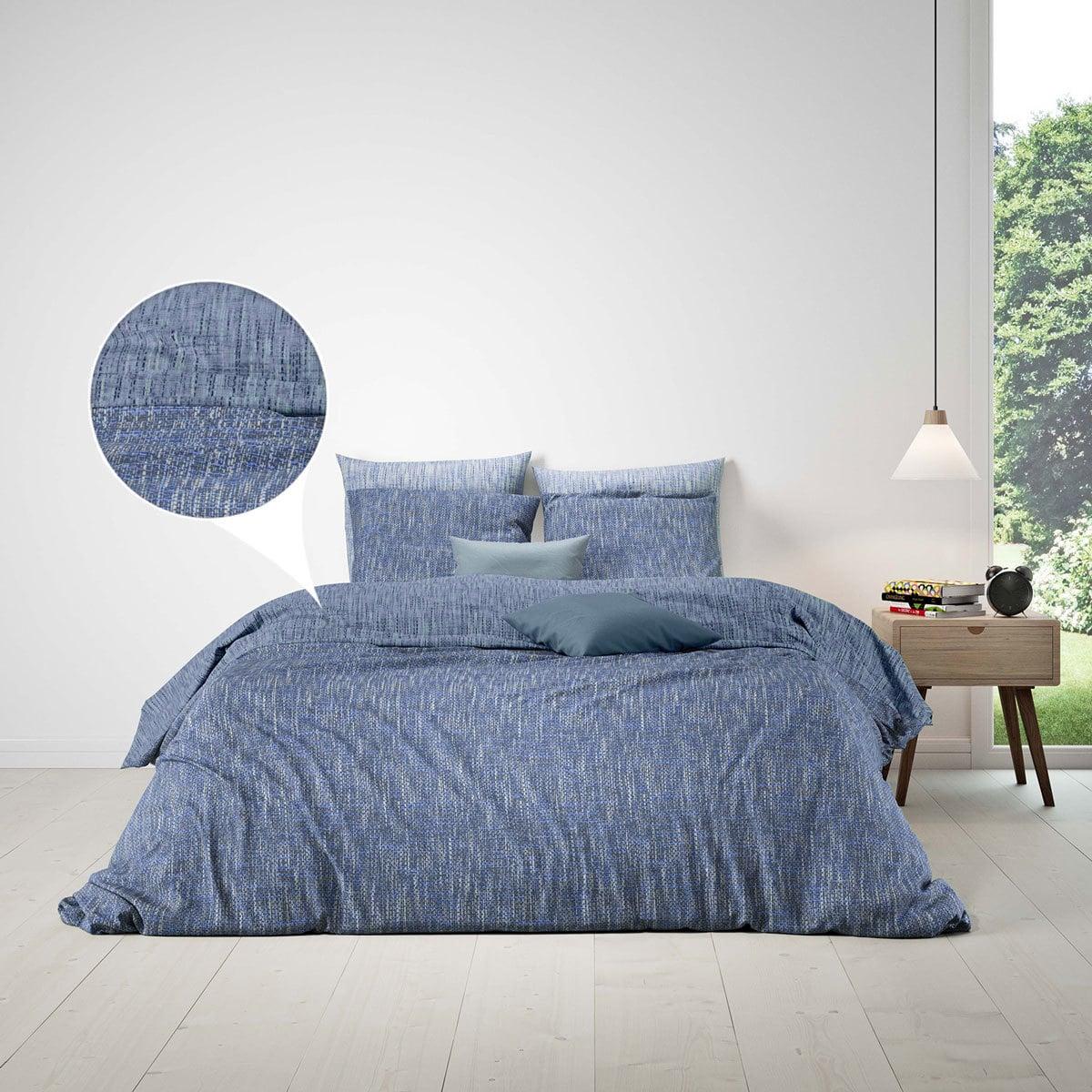 BettwarenShop Bettwäsche Albi blau