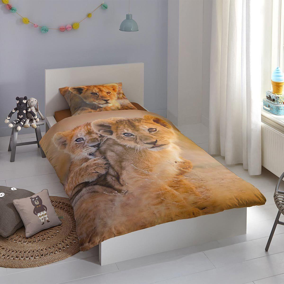 Good Morning Bettwäsche Baby Lion sand