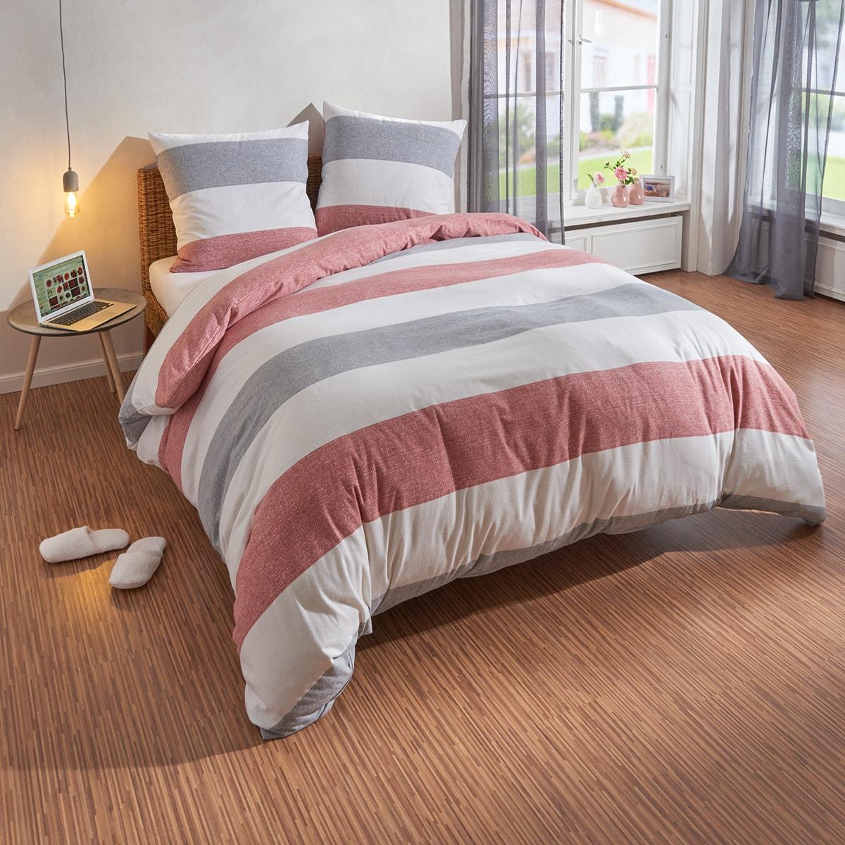 Grau Rot Baumwolle Bettwäsche Garnituren Online Kaufen Möbel