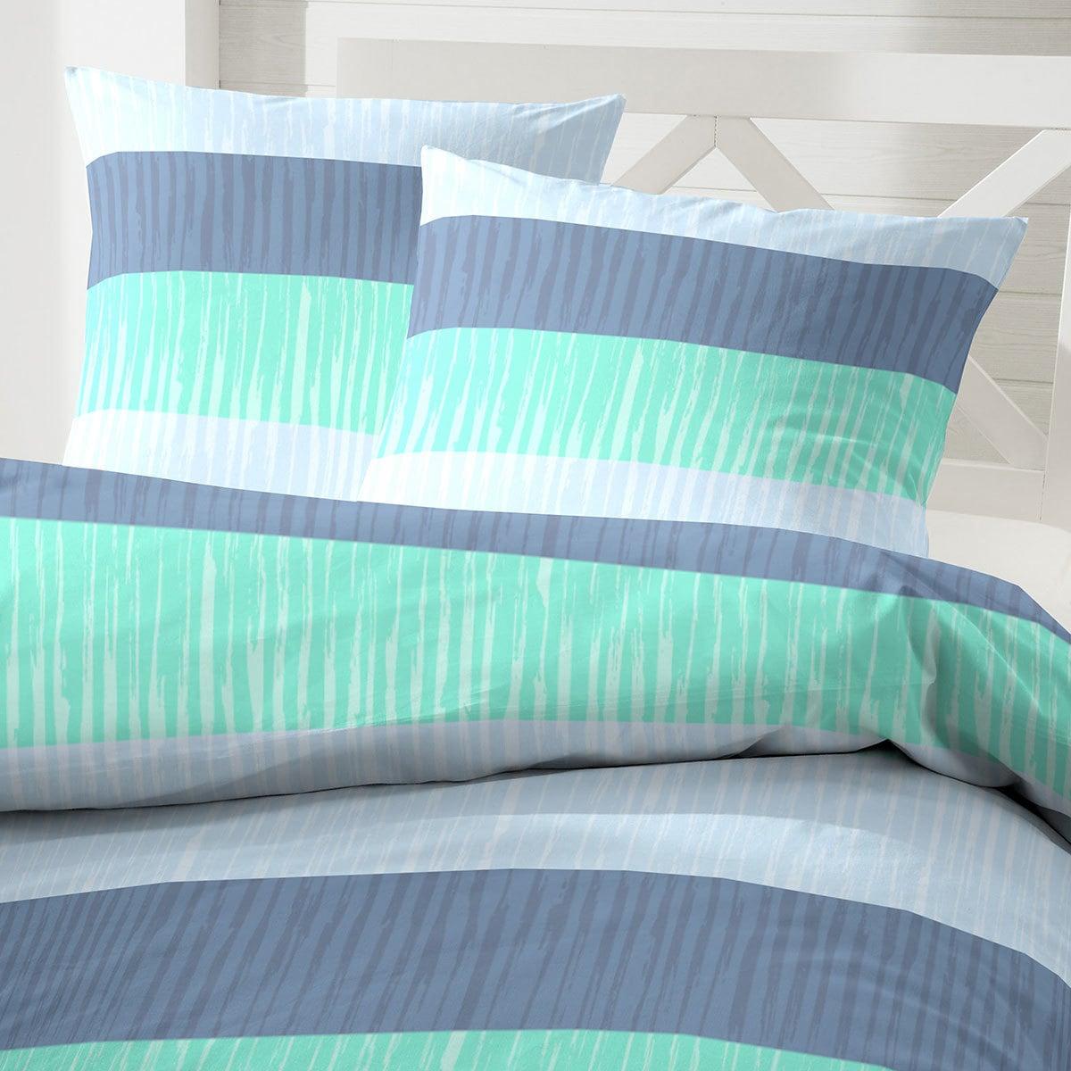 hahn bettw sche blockstreifen gr n g nstig online kaufen. Black Bedroom Furniture Sets. Home Design Ideas