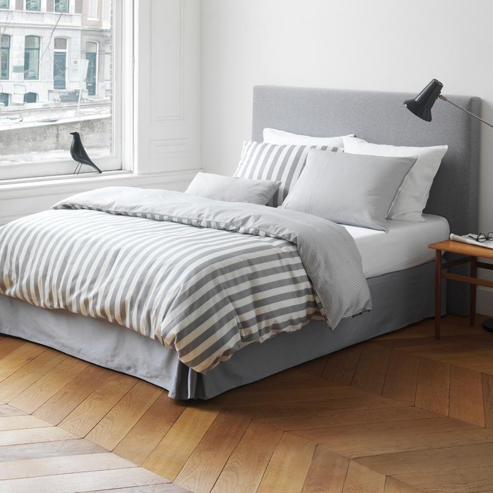 Marc O Polo Bettwäsche Classic Stripe Grey Günstig Online Kaufen Bei