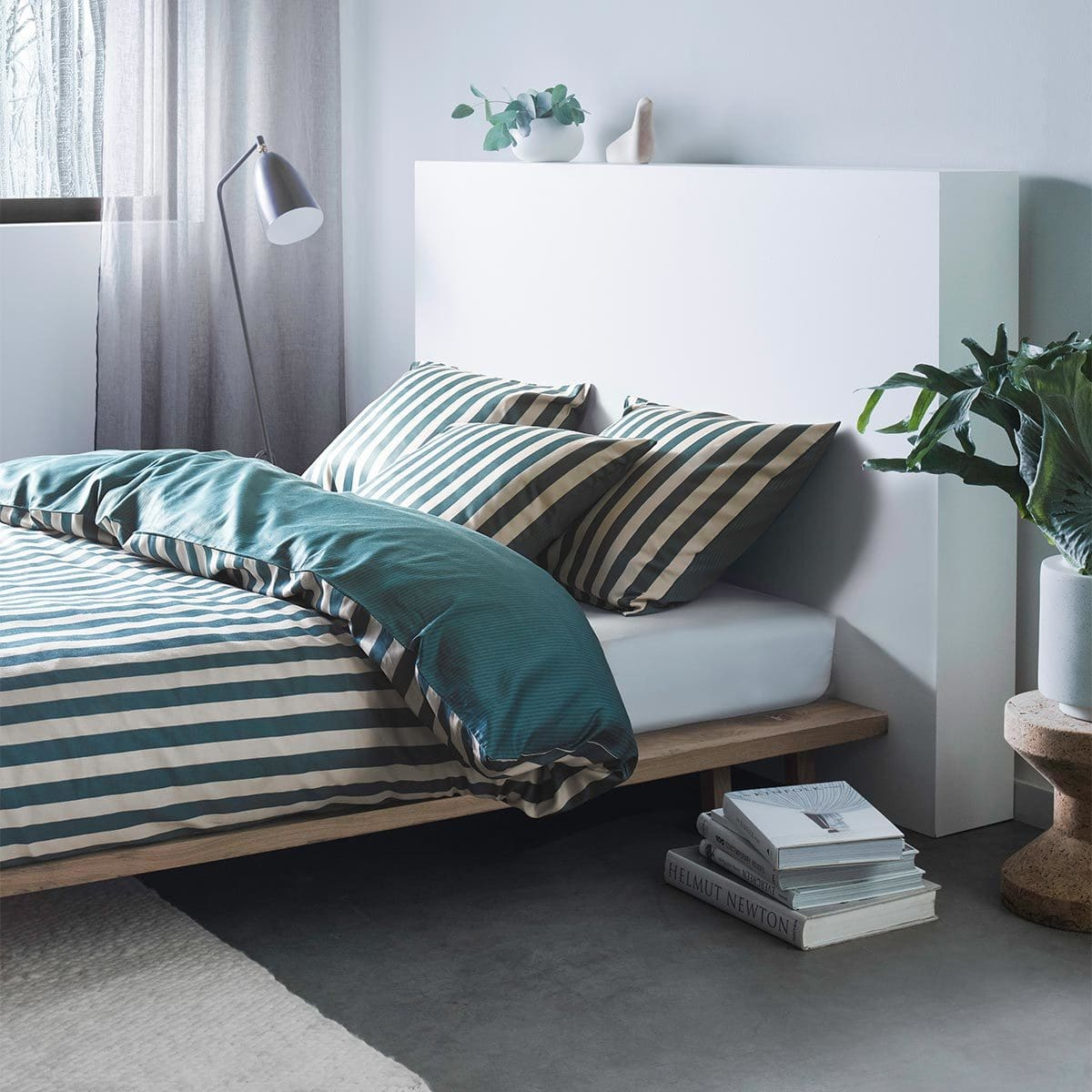 marc o polo bettw sche classic stripe pine green g nstig online kaufen bei bettwaren shop. Black Bedroom Furniture Sets. Home Design Ideas