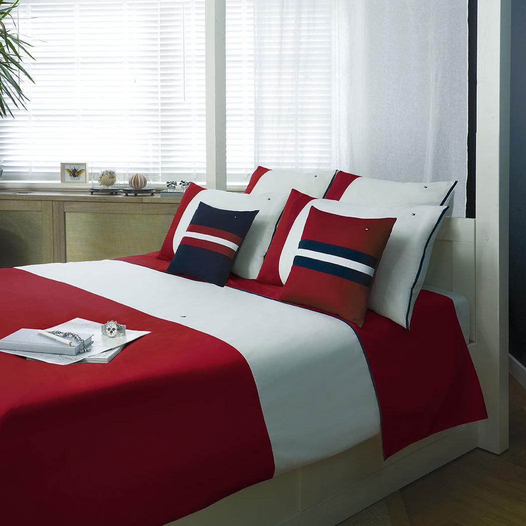 Tommy Hilfiger Bettwäsche Colour Block red