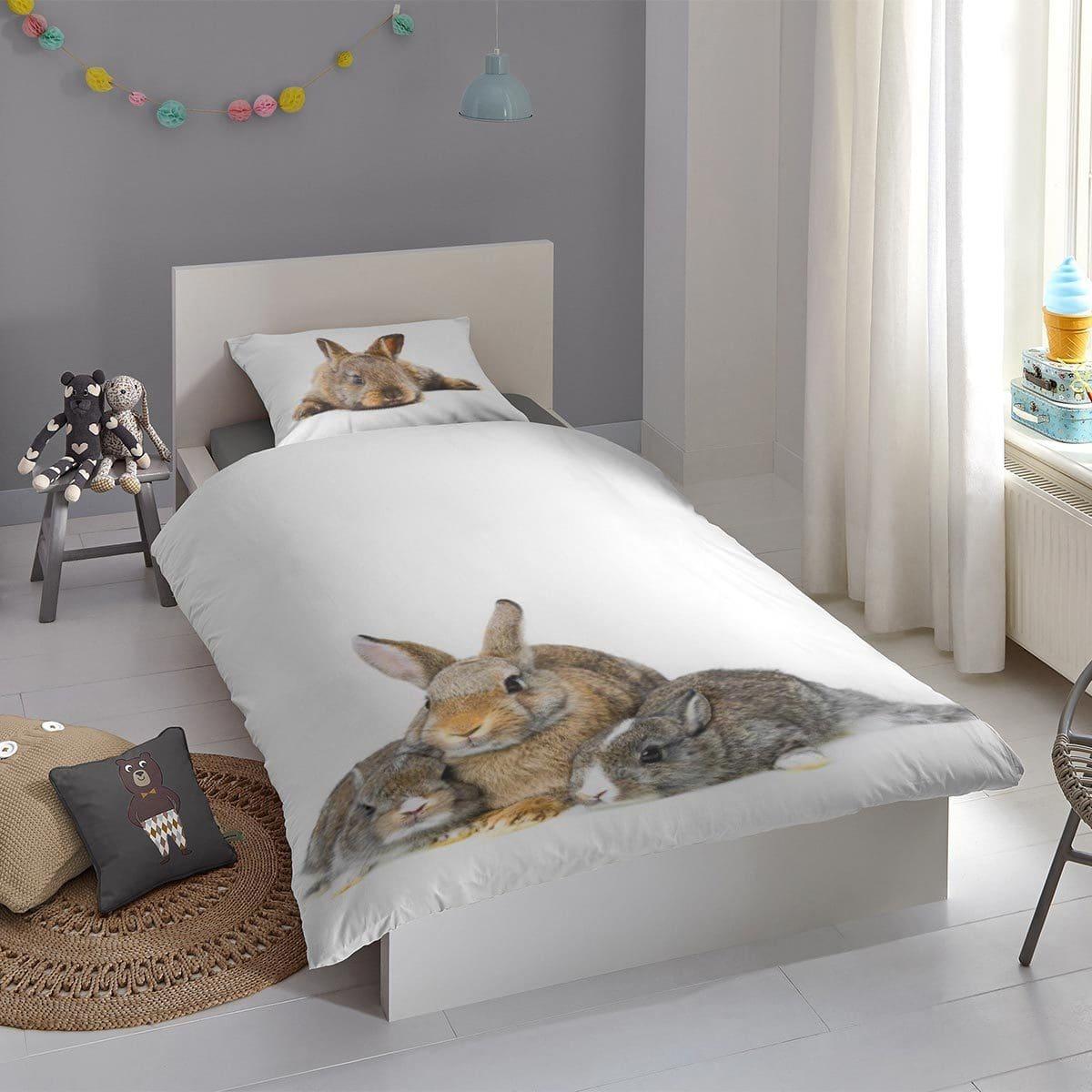 Good Morning Bettwäsche Cute Rabbits white