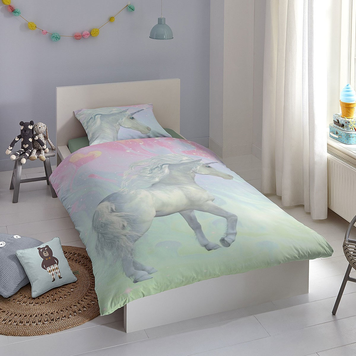 good morning bettw sche einhorn g nstig online kaufen bei bettwaren shop. Black Bedroom Furniture Sets. Home Design Ideas