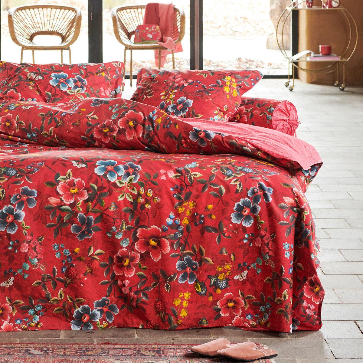 PiP Studio Bettwäsche Floral Delight red