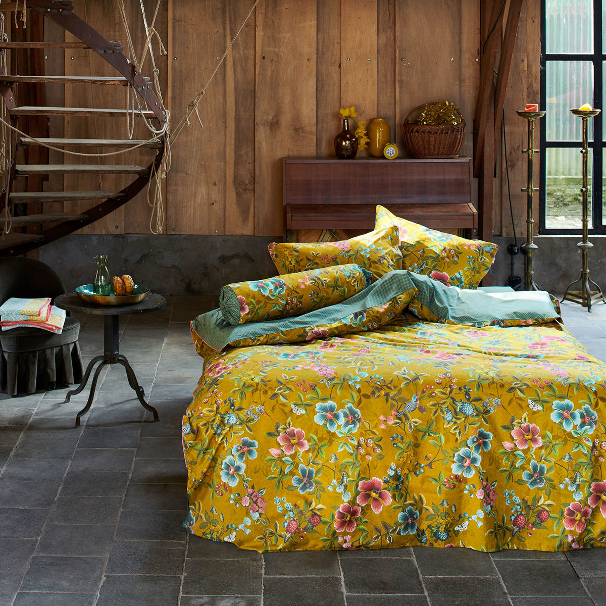 PiP Studio Bettwäsche Floral Delight yellow