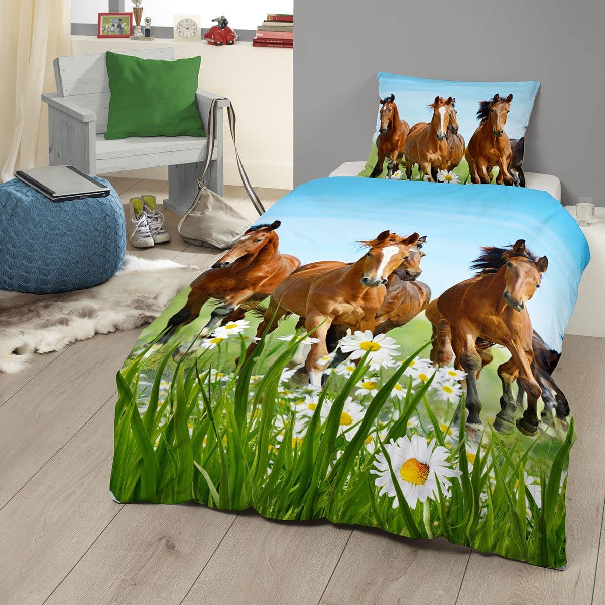 Good Morning Bettwäsche Horses Pferde Günstig Online Kaufen Bei