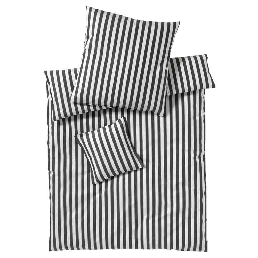 elegante Bettwäsche Linea Lido schwarz