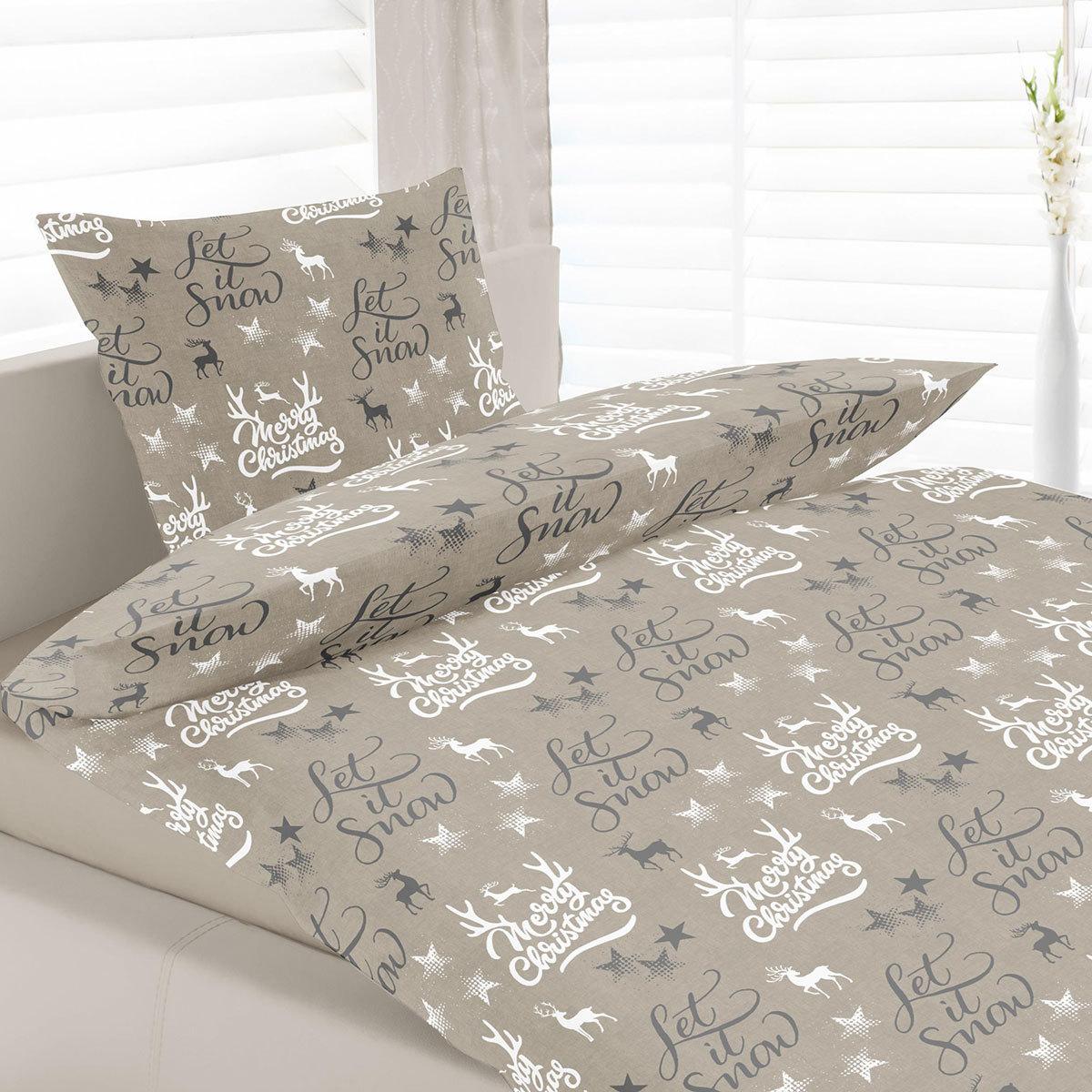 sun garden bettw sche merry christmas beige g nstig online kaufen bei bettwaren shop. Black Bedroom Furniture Sets. Home Design Ideas