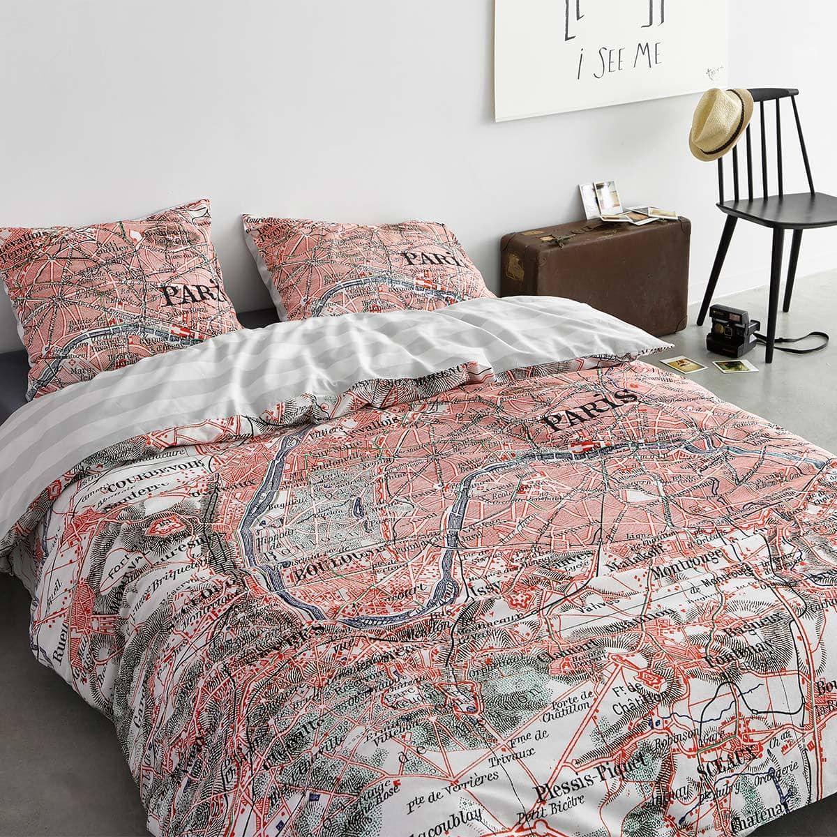 Covers And Co Bettwäsche Paris Citymap Günstig Online Kaufen Bei