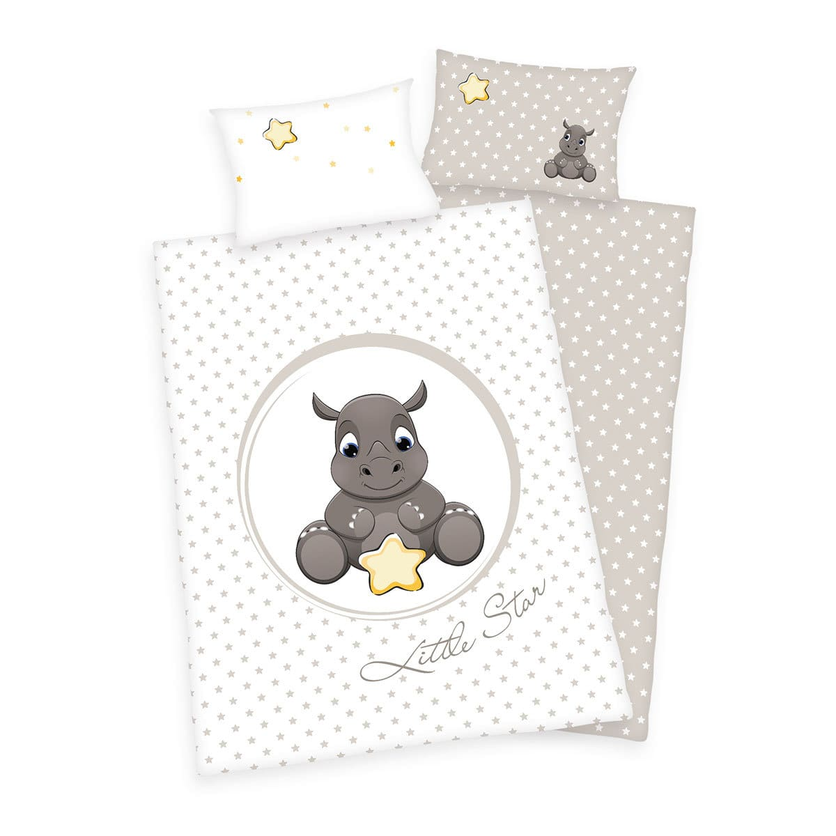 Herding Bettwäsche Süßes Nashorn