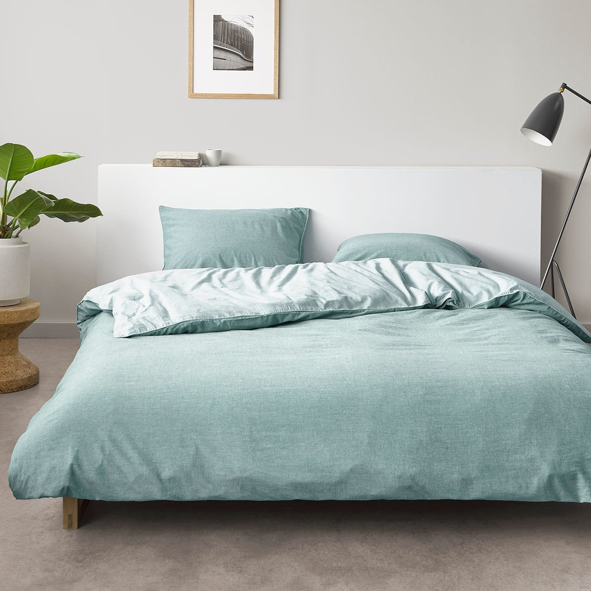 marc o polo bettw sche washed chambray aqua g nstig online kaufen bei bettwaren shop. Black Bedroom Furniture Sets. Home Design Ideas