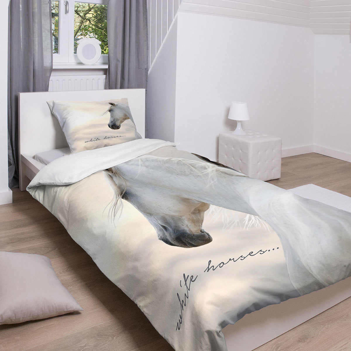 traumschlaf bettw sche white horses g nstig online kaufen bei bettwaren shop. Black Bedroom Furniture Sets. Home Design Ideas