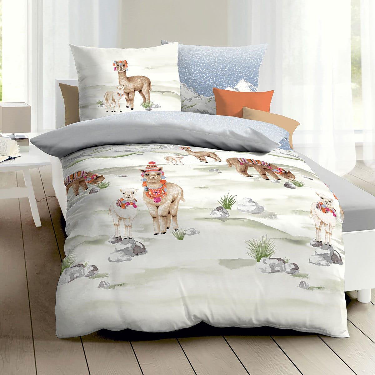 Traumschlaf Biber Bettwäsche Alpaka