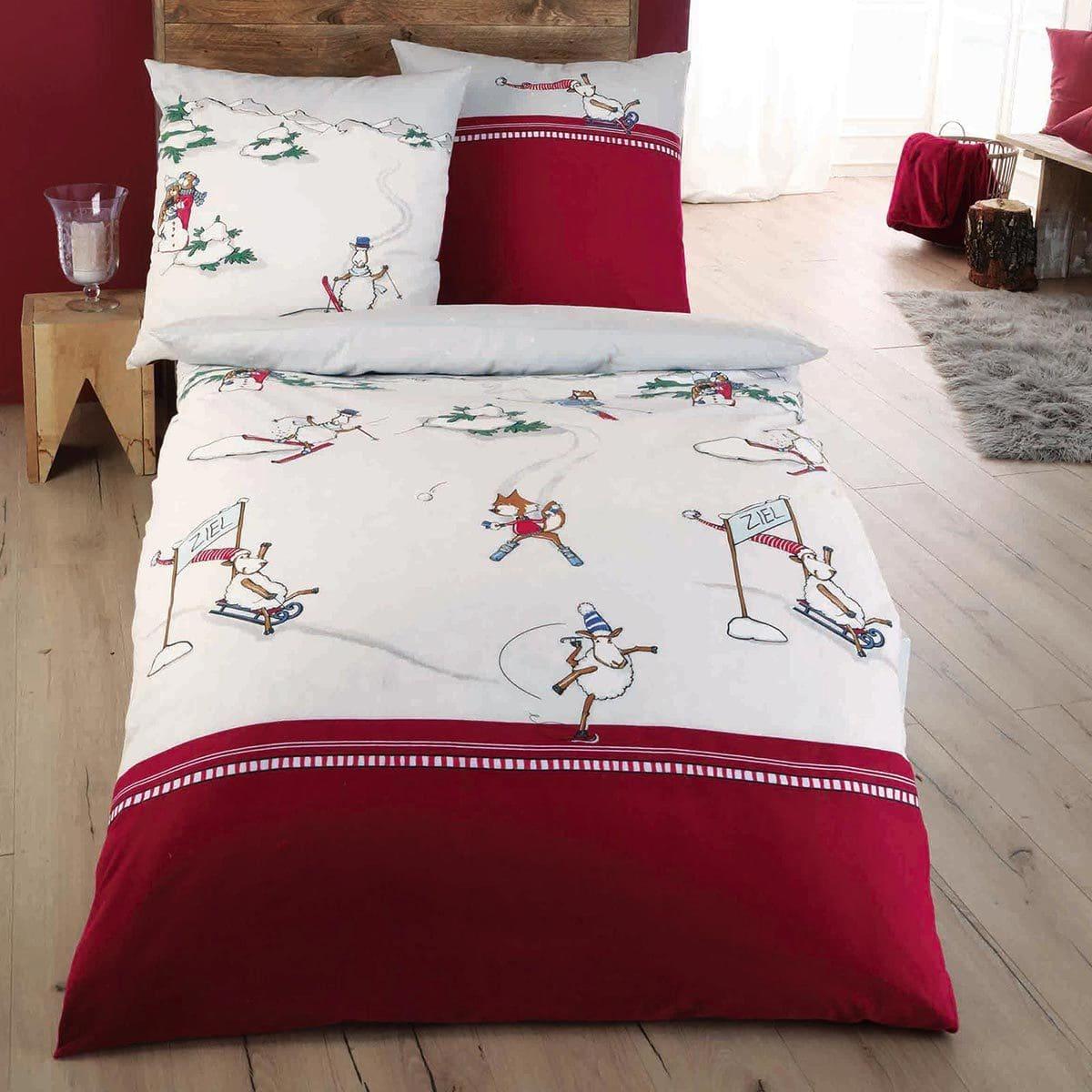 kaeppel biber bettw sche auf schnellen kufen bordeaux g nstig online kaufen bei bettwaren shop. Black Bedroom Furniture Sets. Home Design Ideas