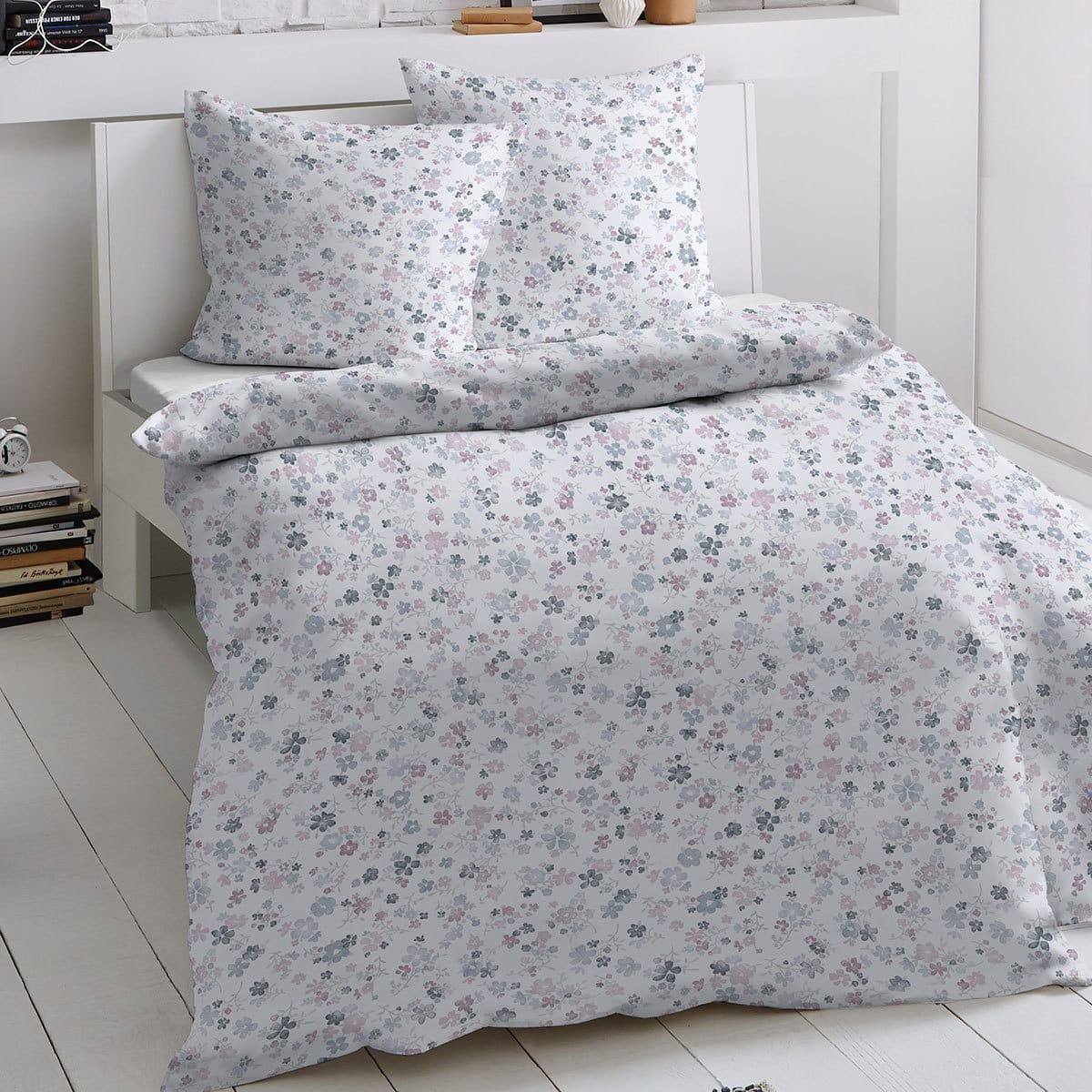 Traumschlaf Biber Bettwäsche Blumen
