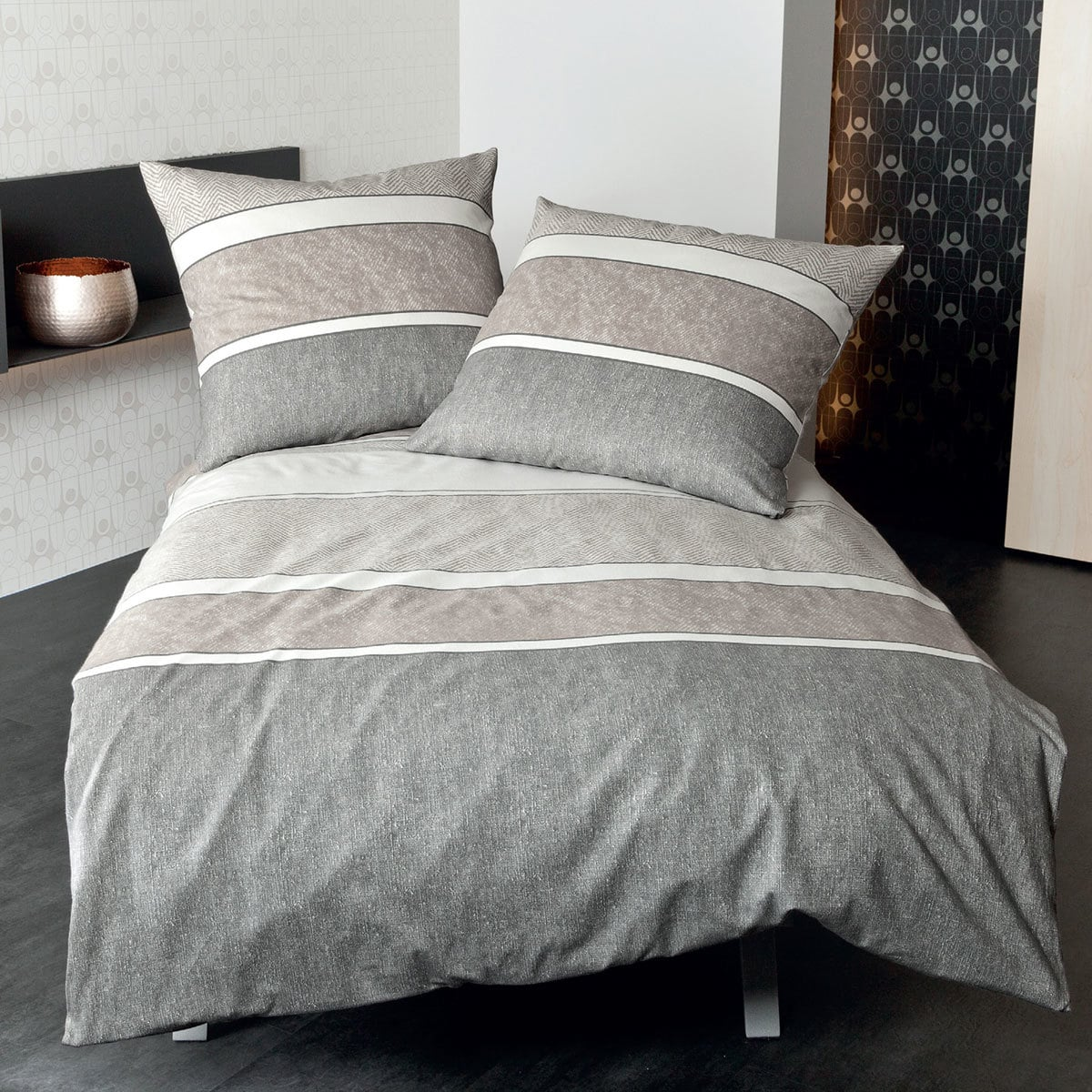 janine biber bettw sche davos 65047 07 sand g nstig online kaufen bei bettwaren shop. Black Bedroom Furniture Sets. Home Design Ideas