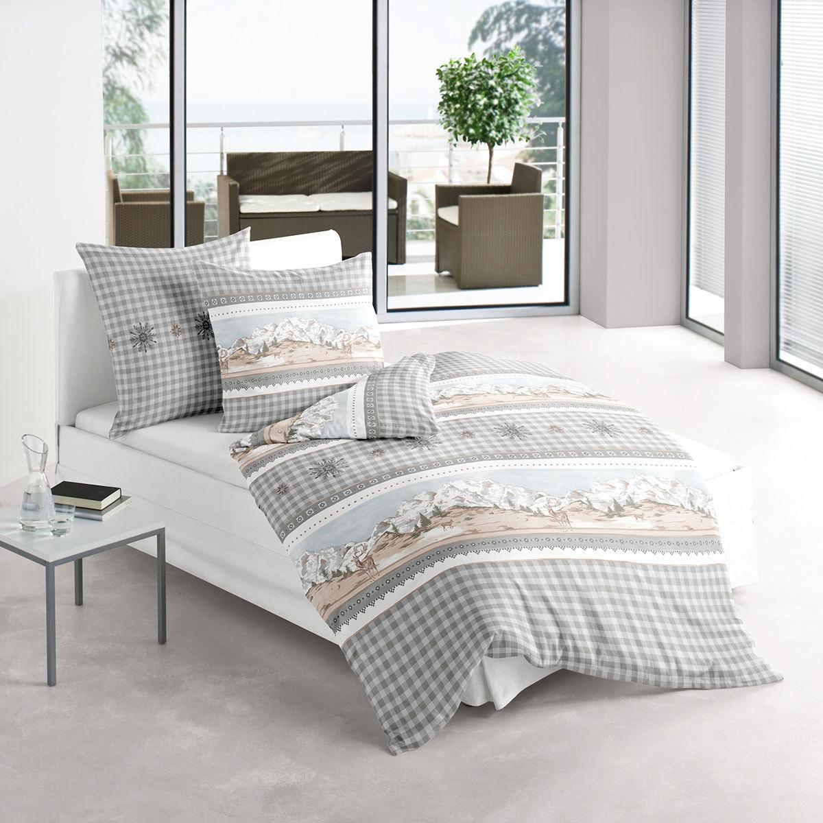 irisette biber bettw sche davos 8634 11 g nstig online kaufen bei bettwaren shop. Black Bedroom Furniture Sets. Home Design Ideas