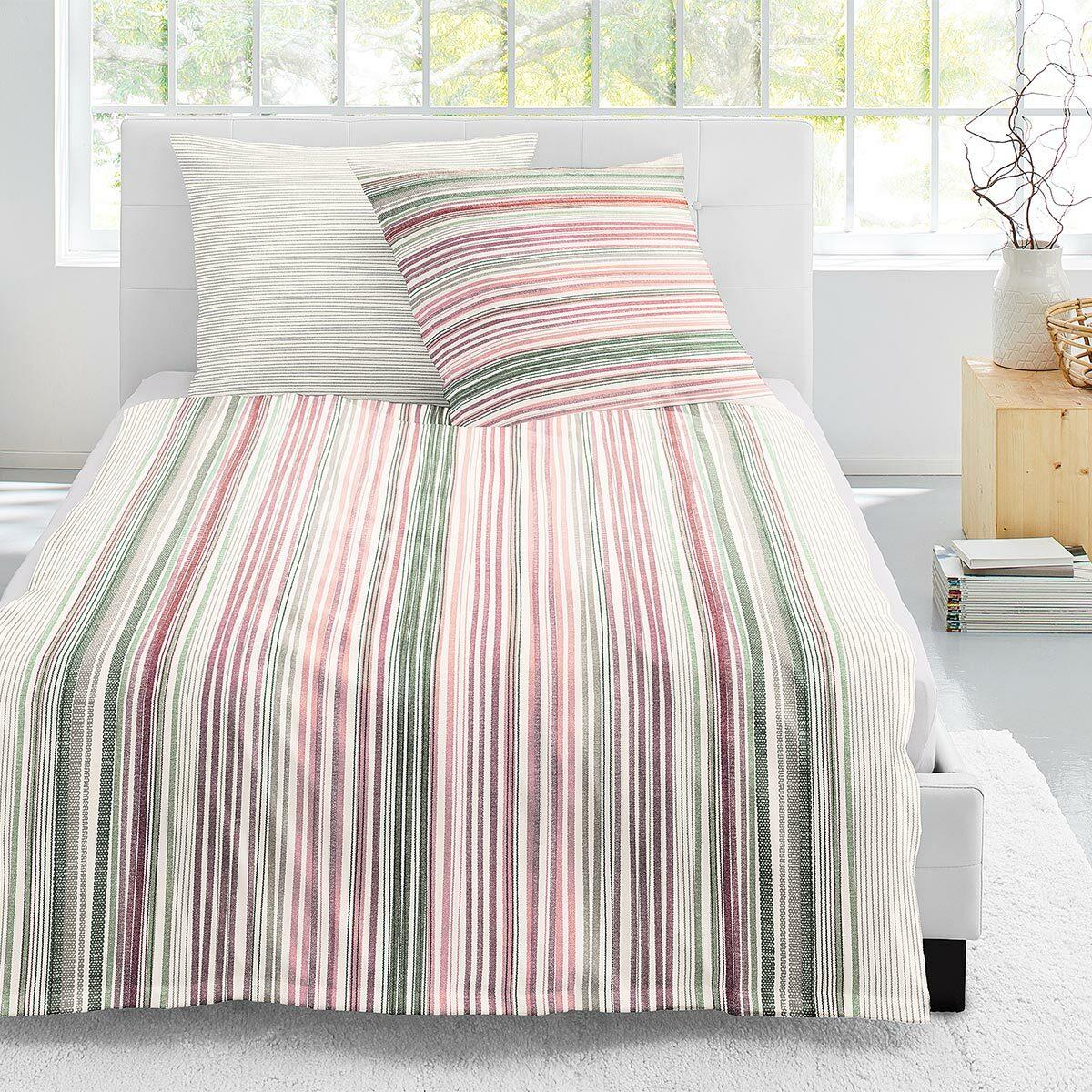 Irisette Biber Bettwäsche Davos Stripes