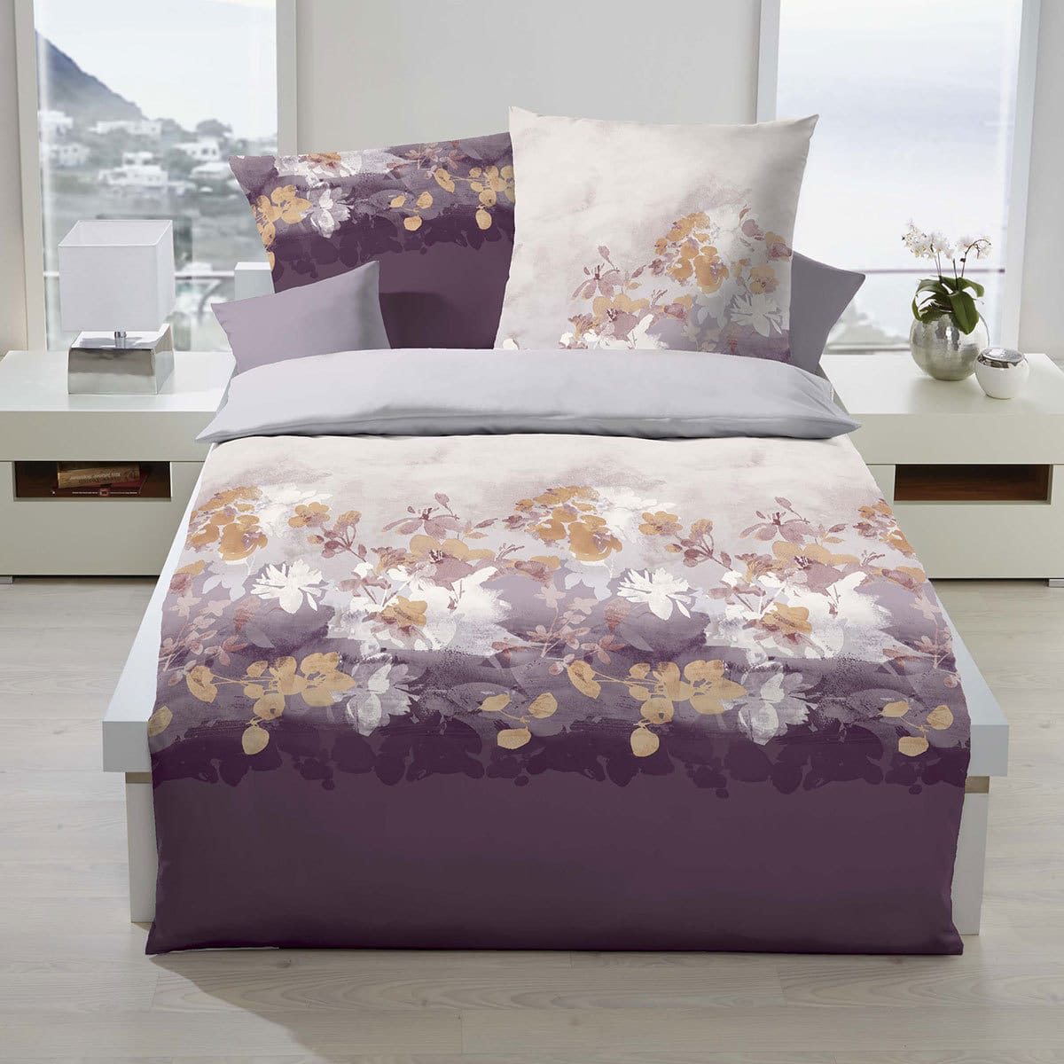 kaeppel biber bettw sche flair mauve g nstig online kaufen. Black Bedroom Furniture Sets. Home Design Ideas