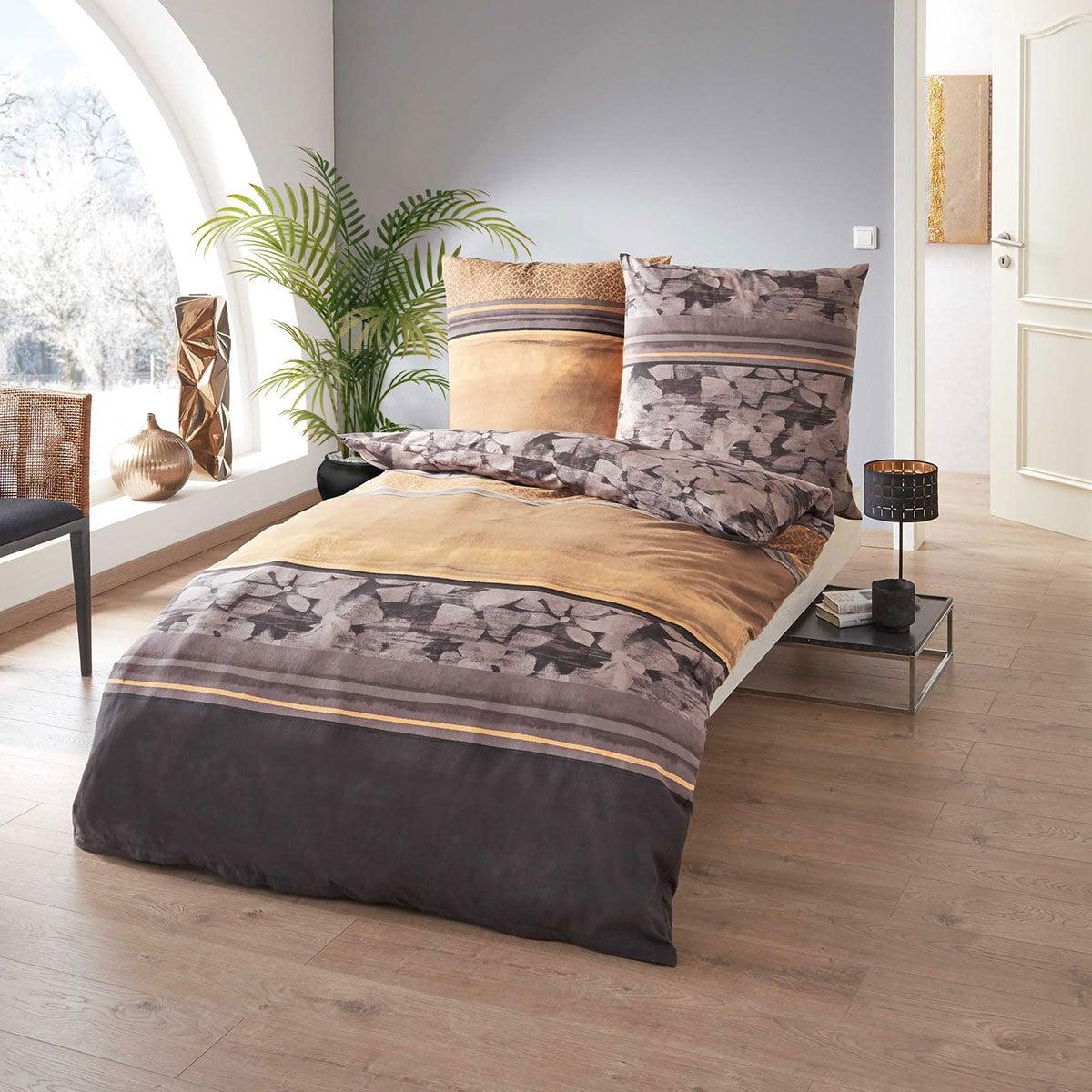 kaeppel biber bettw sche jane ocker g nstig online kaufen bei bettwaren shop. Black Bedroom Furniture Sets. Home Design Ideas