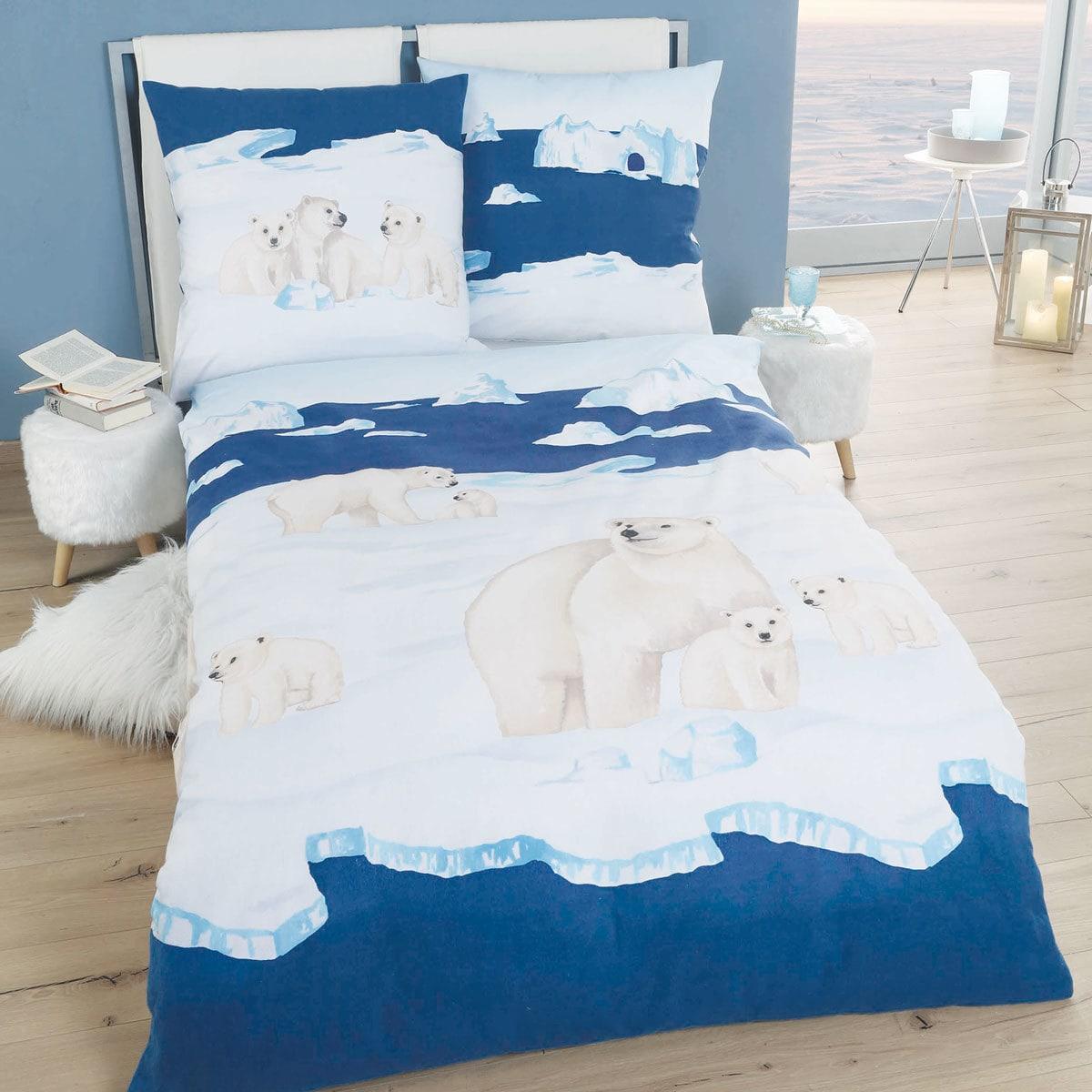 Traumschlaf Biber Bettwäsche Nordpol Eisbär