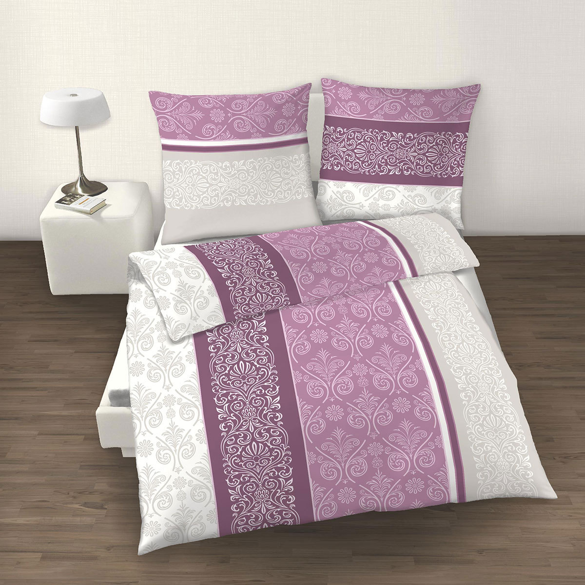dobnig biber bettw sche paisley malve g nstig online kaufen bei bettwaren shop. Black Bedroom Furniture Sets. Home Design Ideas