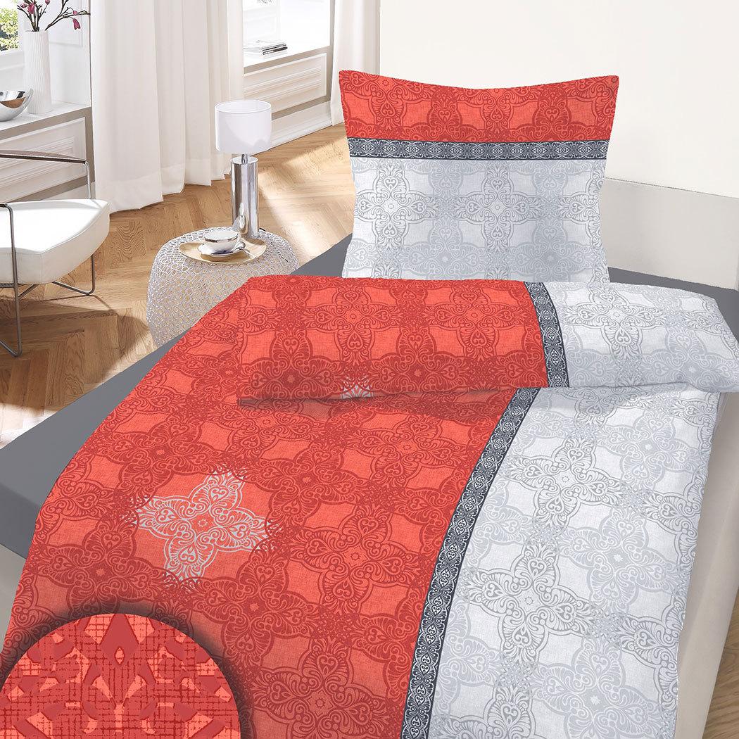 traumschlaf biber bettw sche queen ornaments rot g nstig. Black Bedroom Furniture Sets. Home Design Ideas