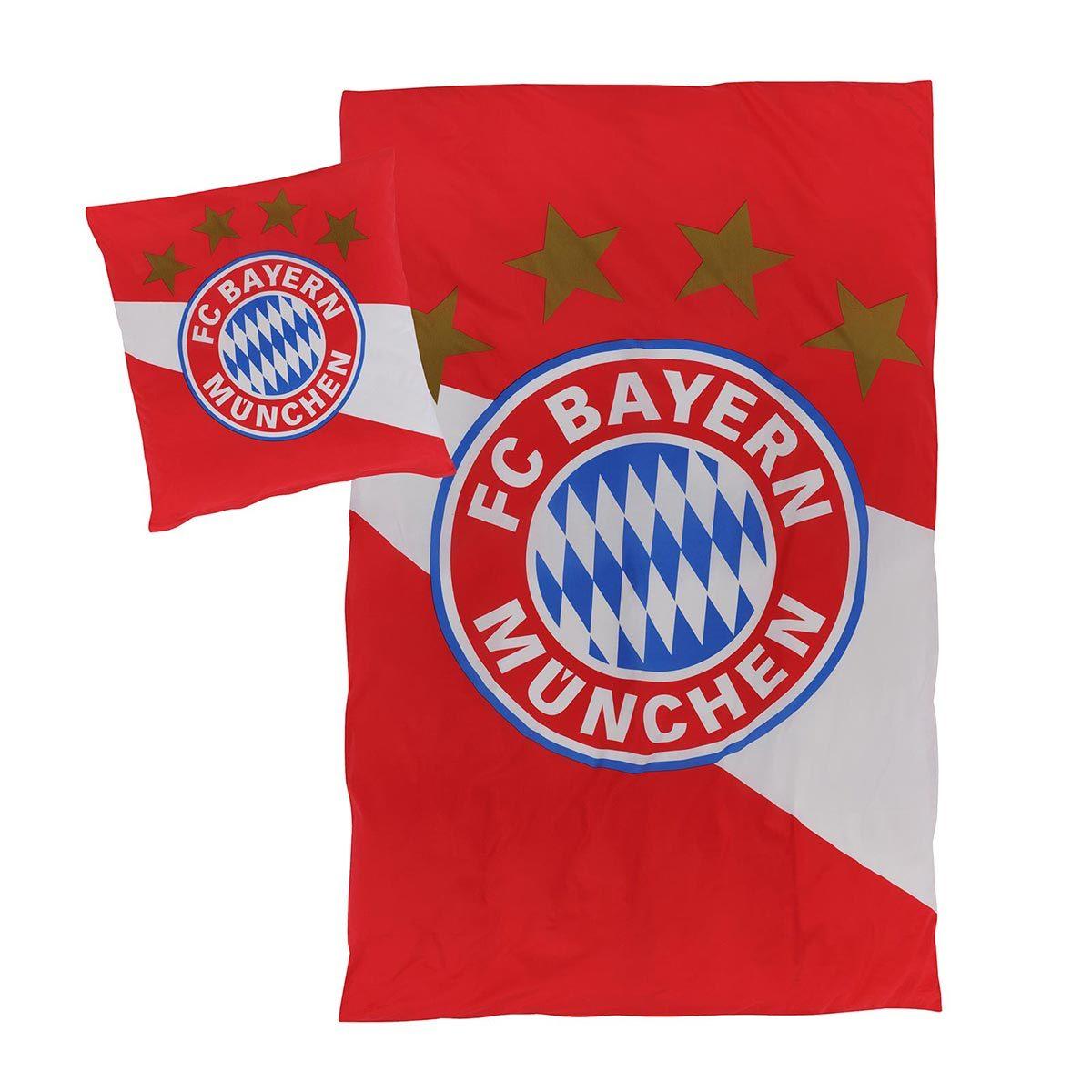 Fc Bayern München Biber Bettwäsche Rotweiss Günstig Online Kaufen