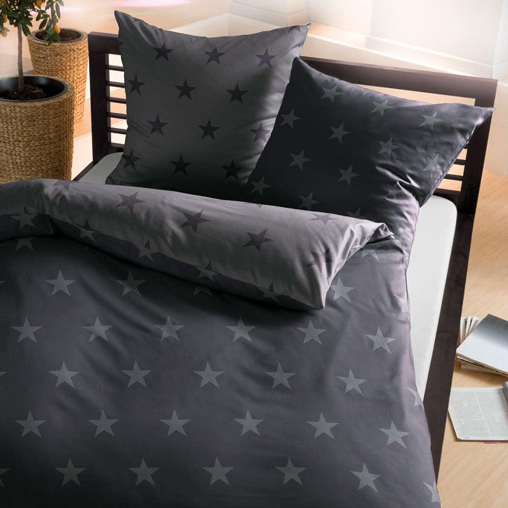 bettwarenshop biber bettw sche stars zinn g nstig online kaufen bei bettwaren shop. Black Bedroom Furniture Sets. Home Design Ideas