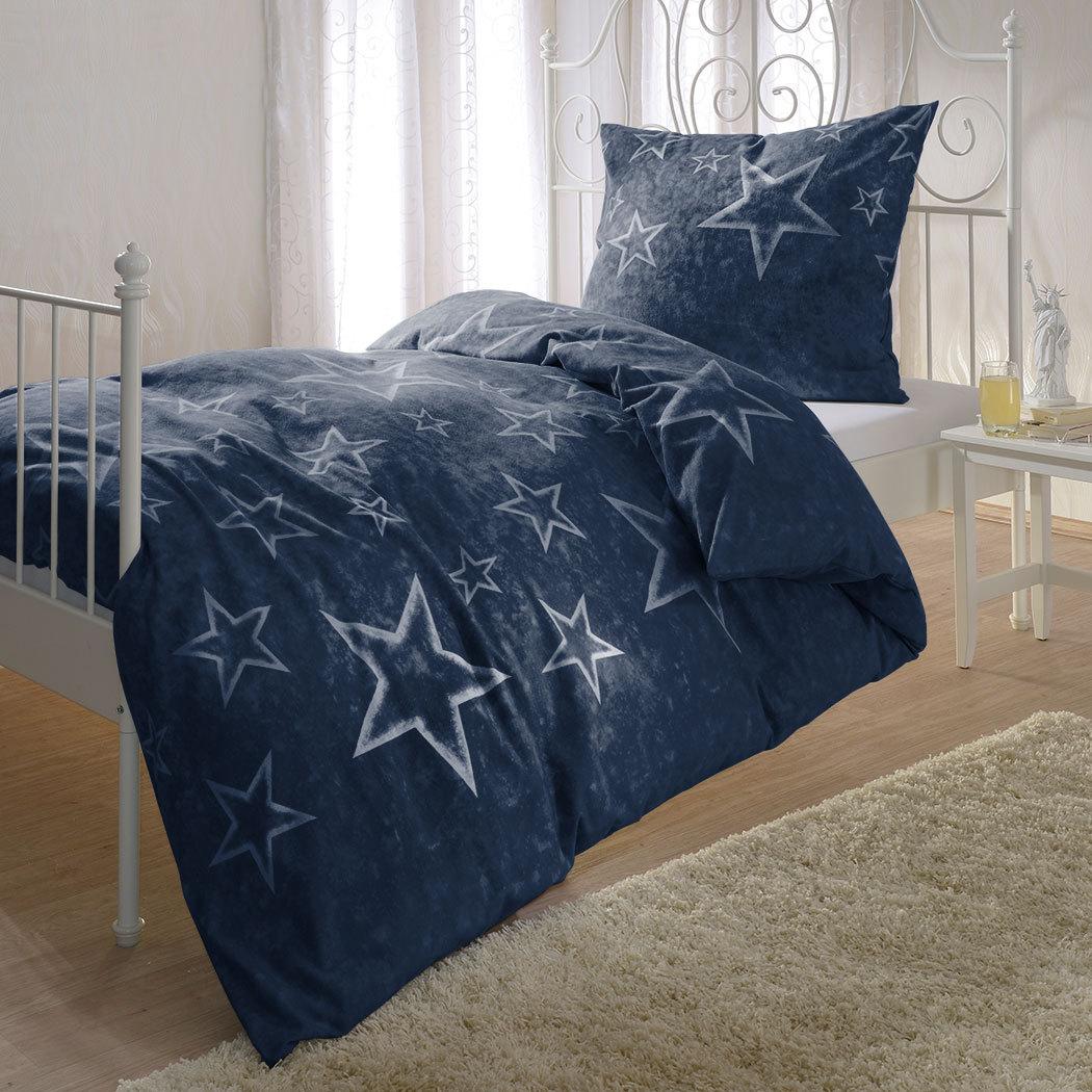 Biber Bettwäsche Sterne : bettwarenshop biber bettw sche sterne blau g nstig online ~ Watch28wear.com Haus und Dekorationen