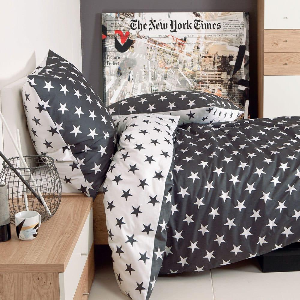 Janine Biber Bettwäsche Sterne schwarz